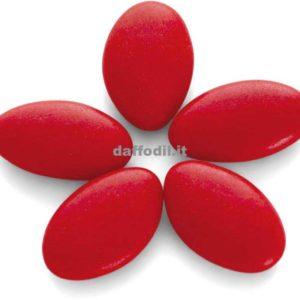 5 confetti rossi alla mandorla
