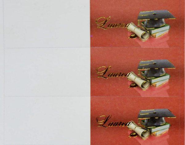 Biglettino Laurea rosso