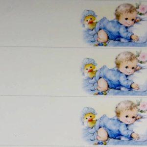 Bigliettino nascita azzurro