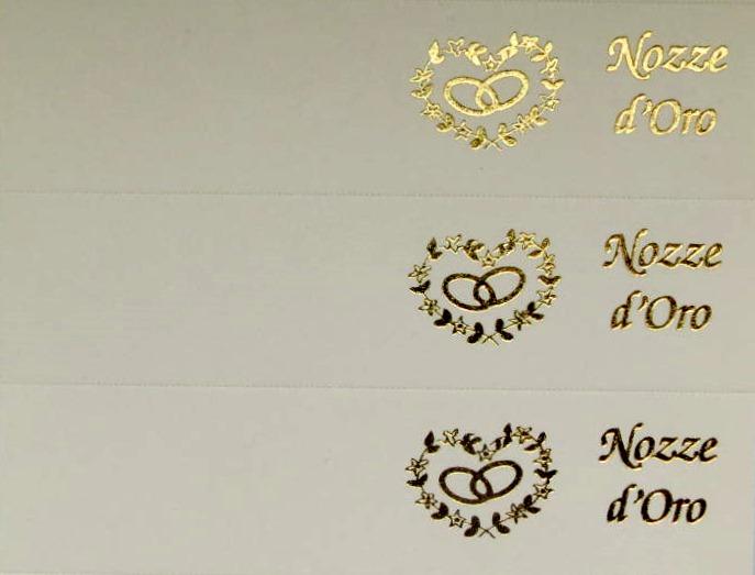 Bigliettino Nozze D'Oro