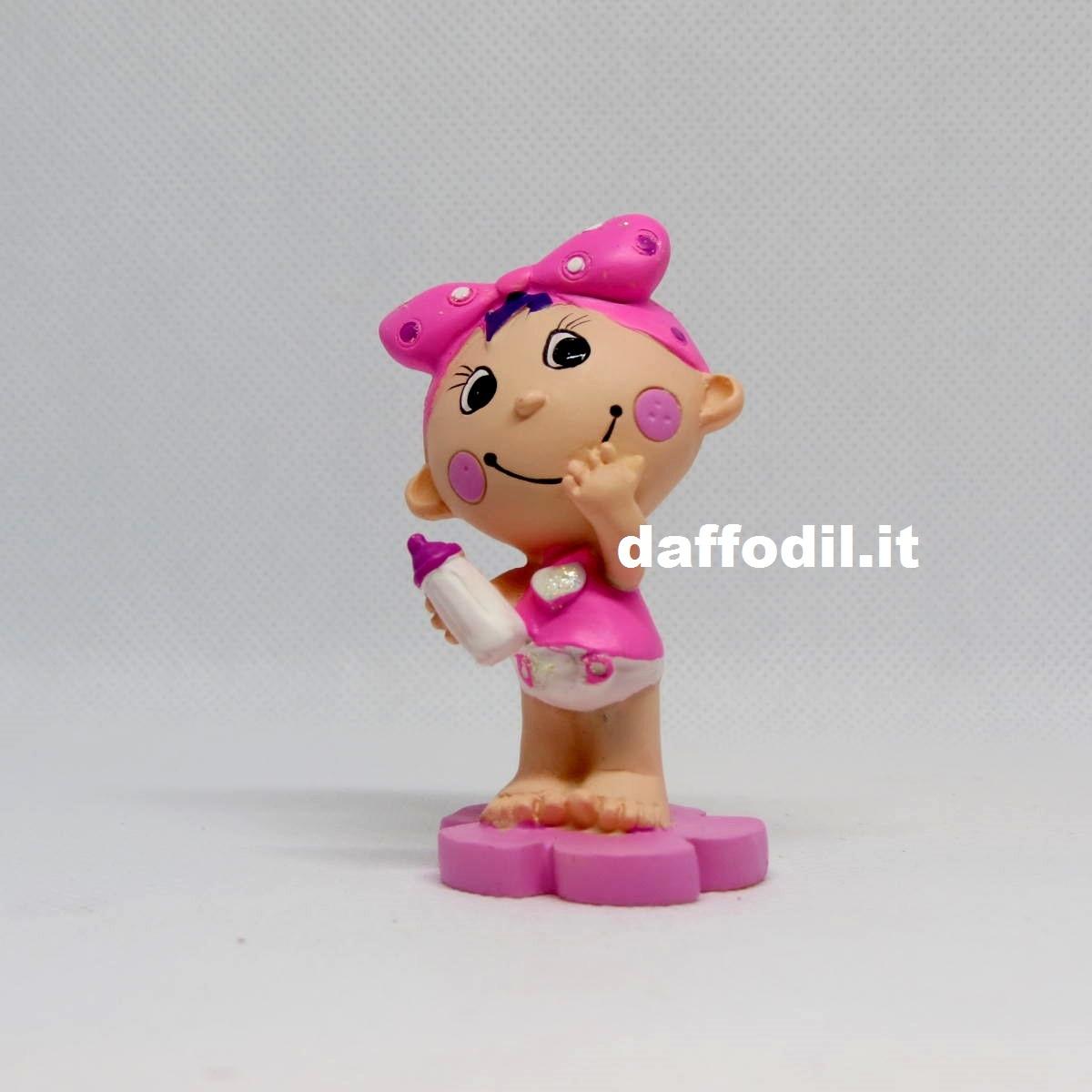 Bimba fiocco rosa