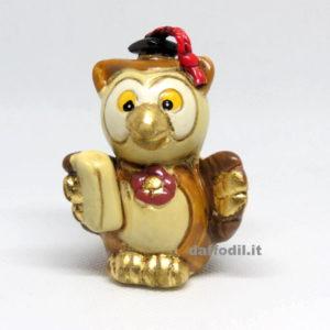 Gufo porcellana c/oro