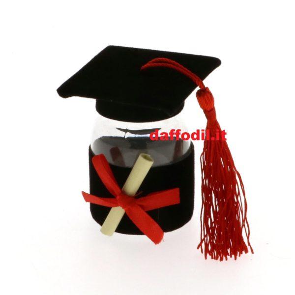 bomboniera bomboniere laurea tocco barattolo scatola scatole confetti rossi rosso