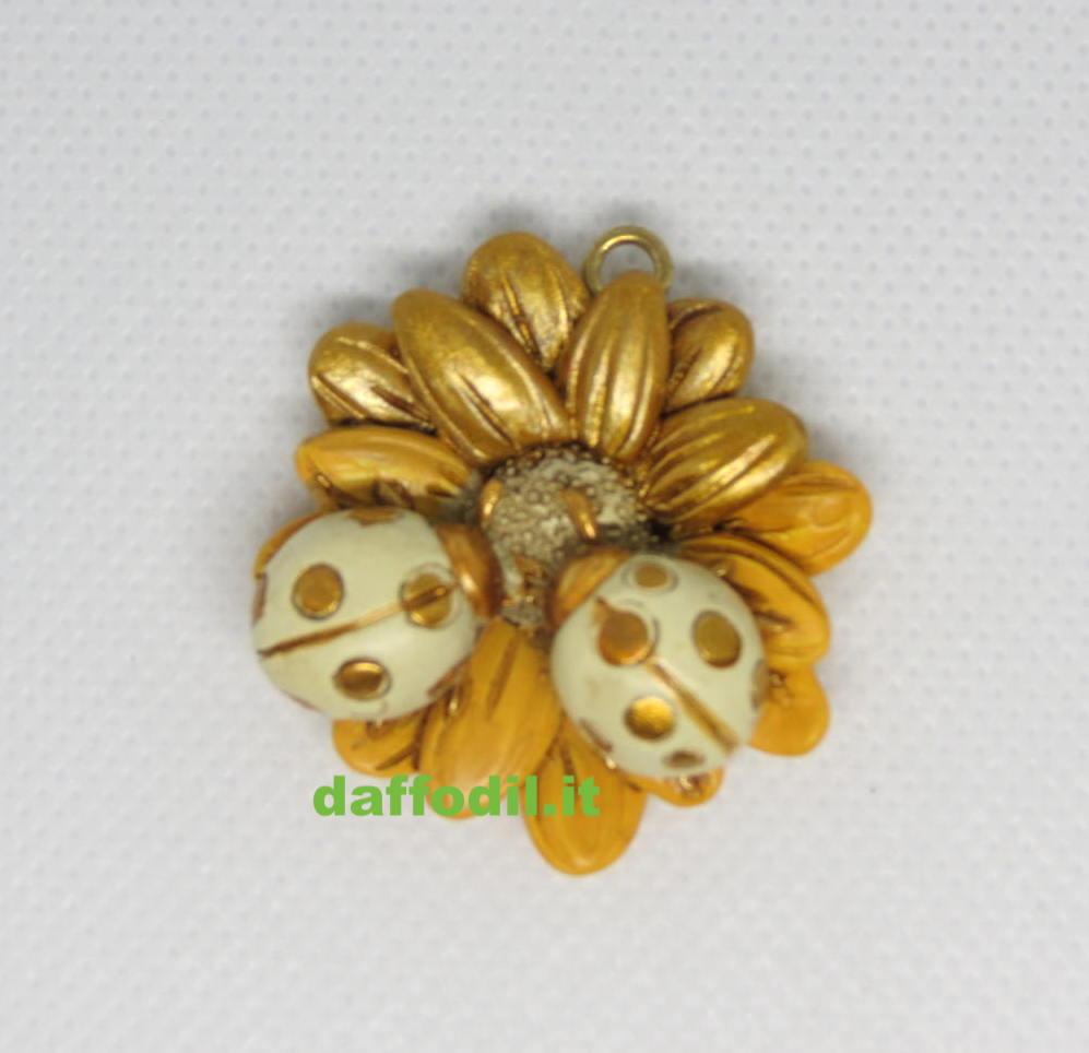 Ciondolo coccinella oro