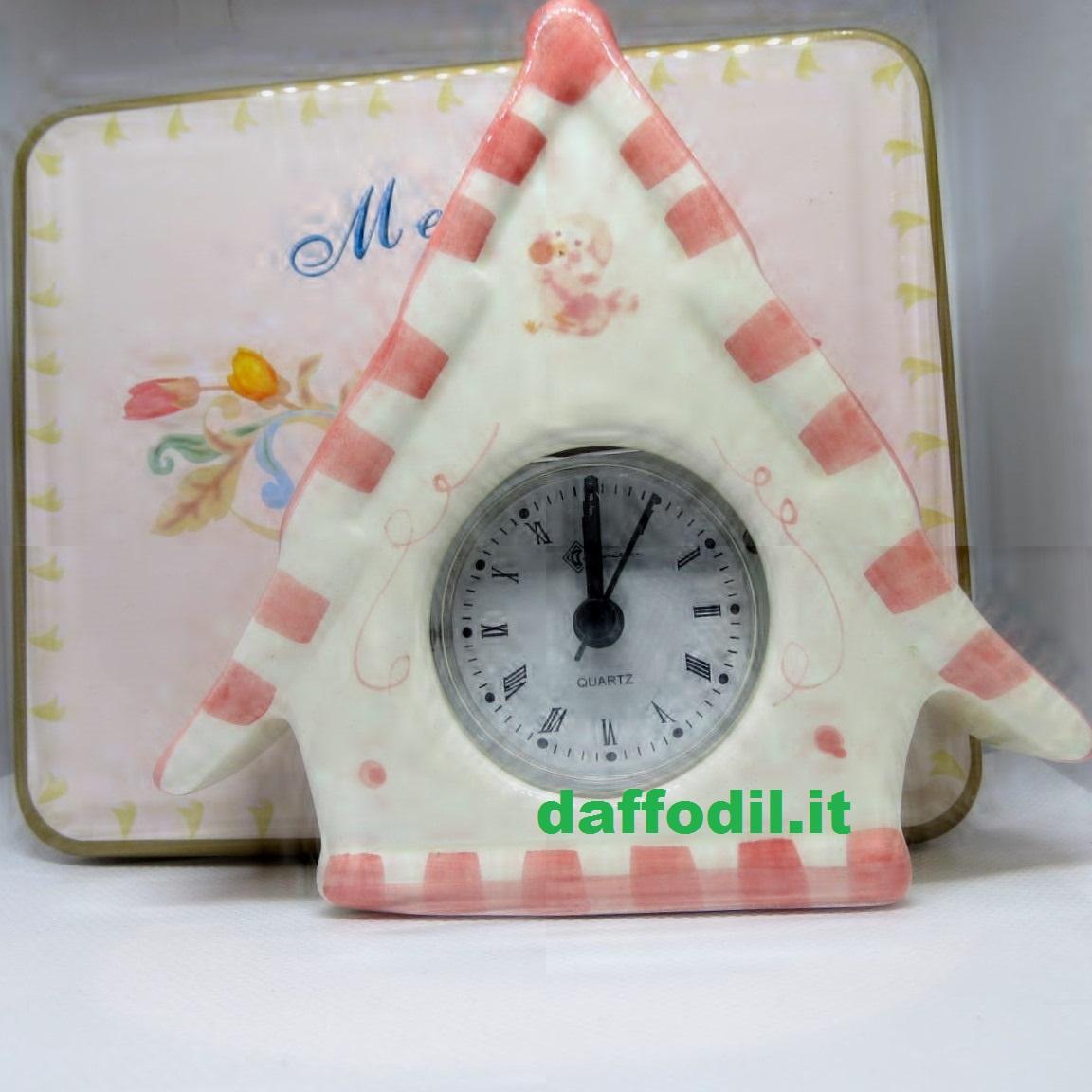Orologio casetta in porcellana