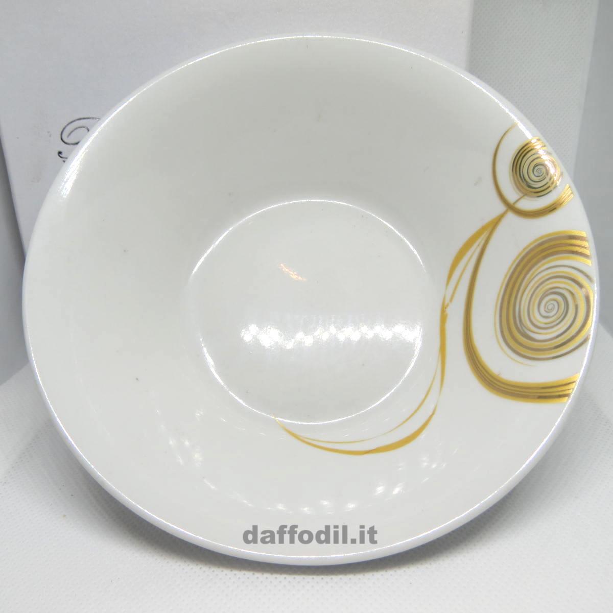 Ciotola porcellana oro