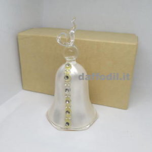Campanella vetro bianca strass