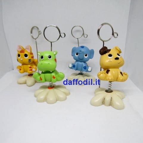 Clip animaletti molla 4 soggetti