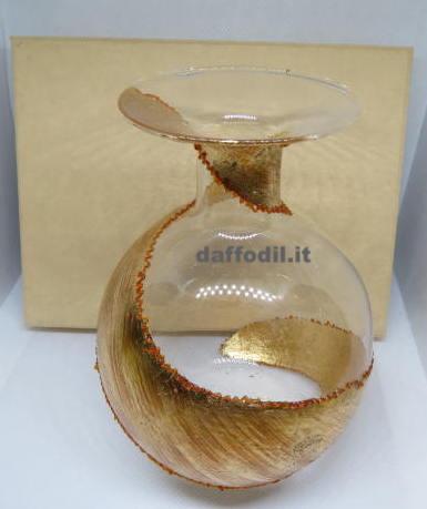 Vasetto in vetro fascia Oro