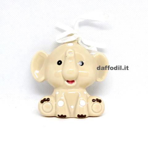 Appendino elefantino in porcellana