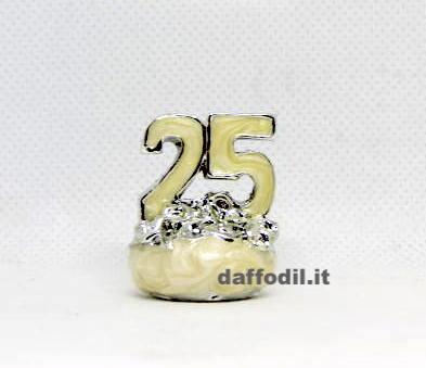 25 piccolo argentato smaltato