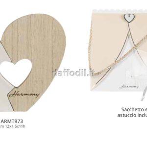 Harmony Angelo in legno e porcellana bianca