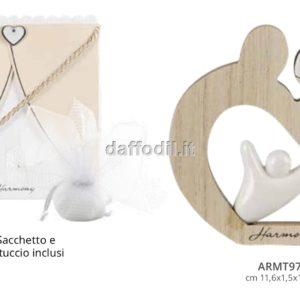 Harmony Sacra Famiglia in legno e porcellana bianca