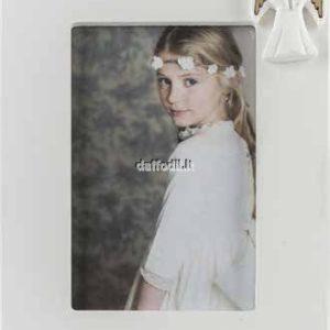 Harmony Portafoto in legno laccato bianco con gessetto Angelo