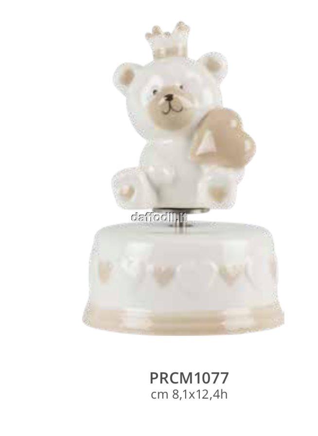 Harmony Carillon base cuori orsetto corona in porcellana