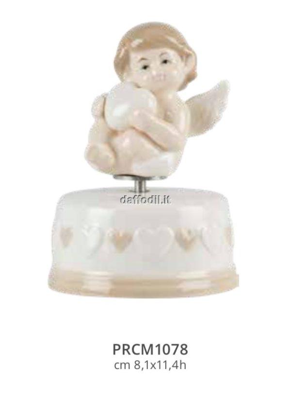 Harmony Carillon base cuori angelo in porcellana