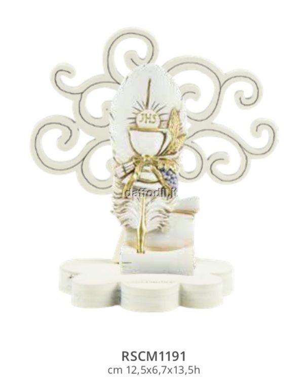 Harmony Albero della Vita legno con piuma simbolo calice comunione