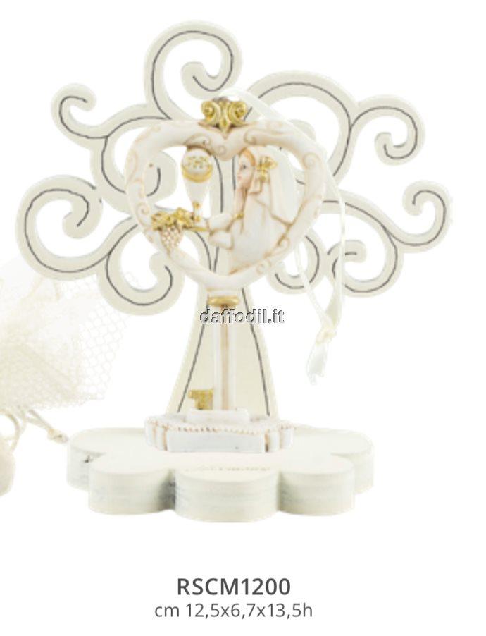 Harmony Albero della Vita legno con chiave cuore bimba comunione