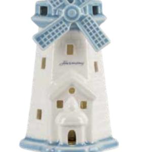 Harmony Faro porcellana piccolo con led sacchetto astuccio nozze