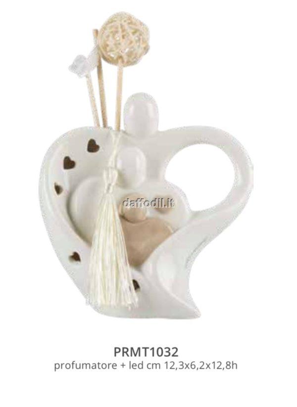 Harmony profumatore sacra famiglia in porcellana con led