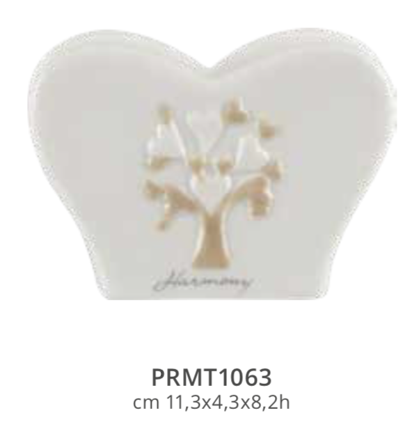 Harmony Portatovaglioli in porcellana albero della vita