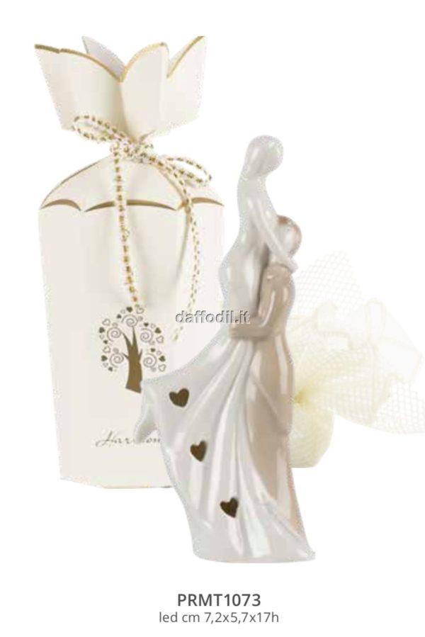 Harmony coppietta sposi in porcellana con led