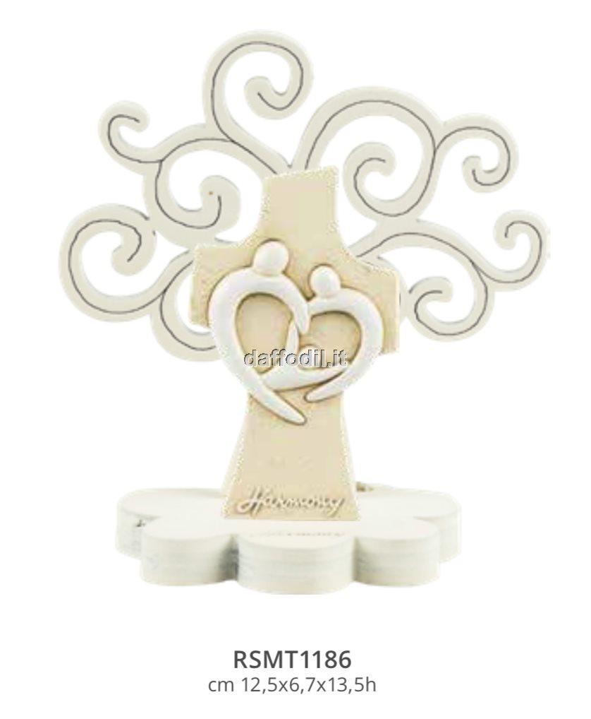Harmony Albero della Vita legno con croce Sacra Famiglia