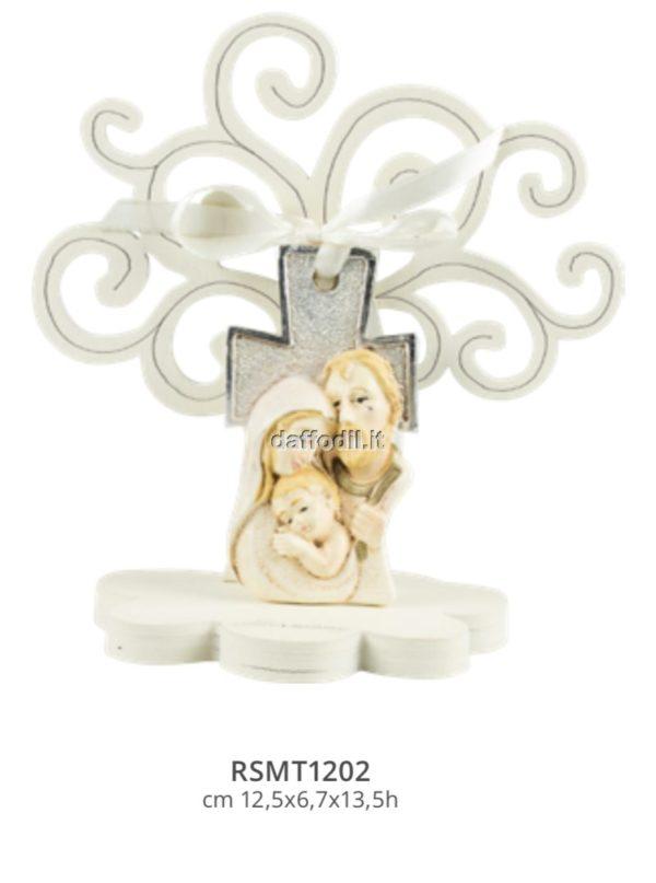 Harmony Albero della Vita croce Sacra Famiglia silver