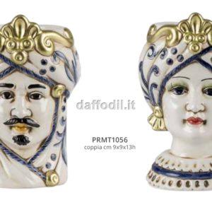 Harmony vasetti Coppia Mori blue/gold piccoli