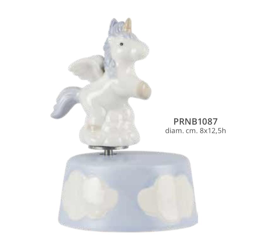 Harmony Carillon unicorno porcellana azzurro