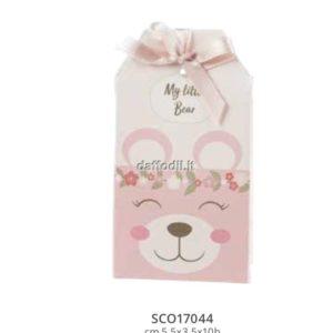 Harmony scatolina portaconfetti orsetto rosa