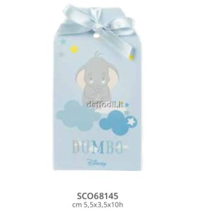 Harmony scatolina portaconfetti Dumbo Wald Disney celeste