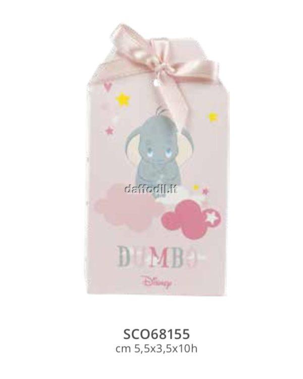 Harmony scatolina portaconfetti Dumbo Wald Disney rosa