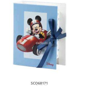 Harmony astuccio portaconfetti a libro Topolino Wald Disney celeste