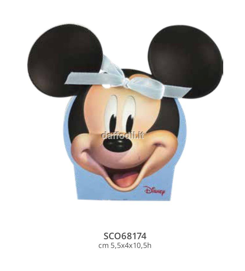 Harmony astuccio portaconfetti Topolino Wald Disney celeste