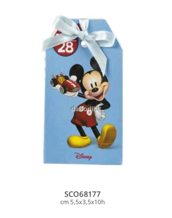 Harmony scatolina portaconfetti Topolino Wald Disney celeste