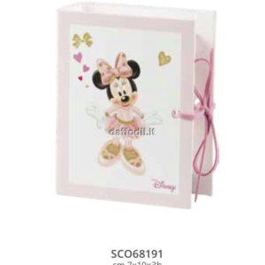 Harmony astuccio portaconfetti a libro Topolina Wald Disney rosa