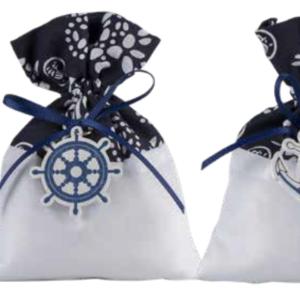 Harmony Sacchetto Juta tema mare bianco/blue 2 assortiti