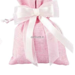 Harmony sacchetto juta Jeans rosa con tiranti