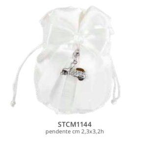 Harmony pochette bianco con pendente vespa smaltata
