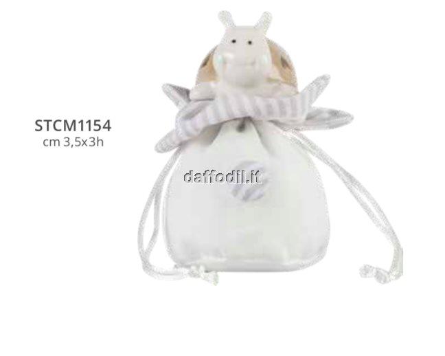 Harmony sacchetto bottoncino con coccinella porcellana