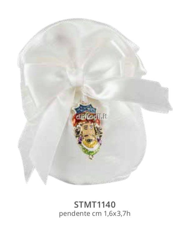 Harmony pochette bianco con pendente MORO RE smaltato