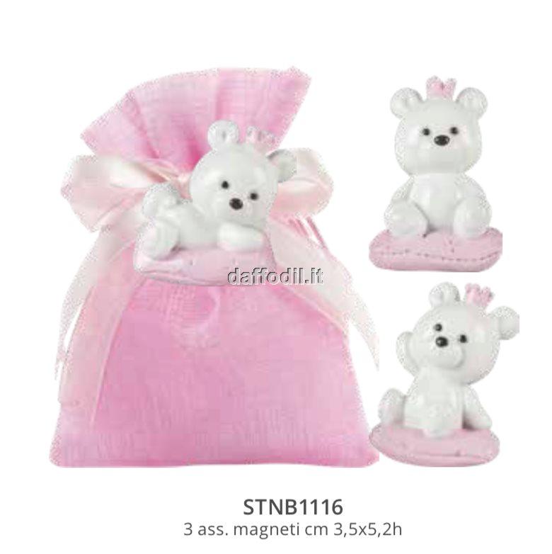 scatolina floccata rosa con accessori in resina