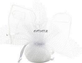 sacchetto con tiranti bianco cresima comunione matrimonio