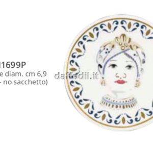 Harmony Magnete piattino in porcellana trama maiolica mora Regina