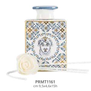 Harmony Bottiglia Profumatore in porcellana trama maiolica Moro Re