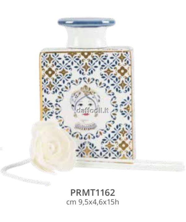 Harmony Bottiglia Profumatore in porcellana trama maiolica Mora Regina