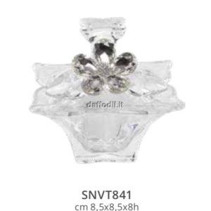Harmony Scatola piccola in vetro Zara con applicazione fiore