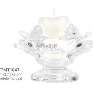 Harmony Porta candela fiore in vetro