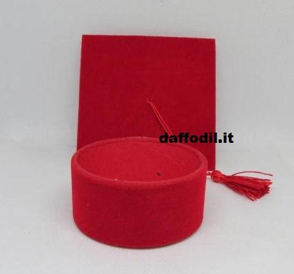 Tocco grande portaconfetti velluto rosso